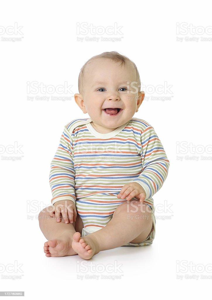 small happy child stock photo