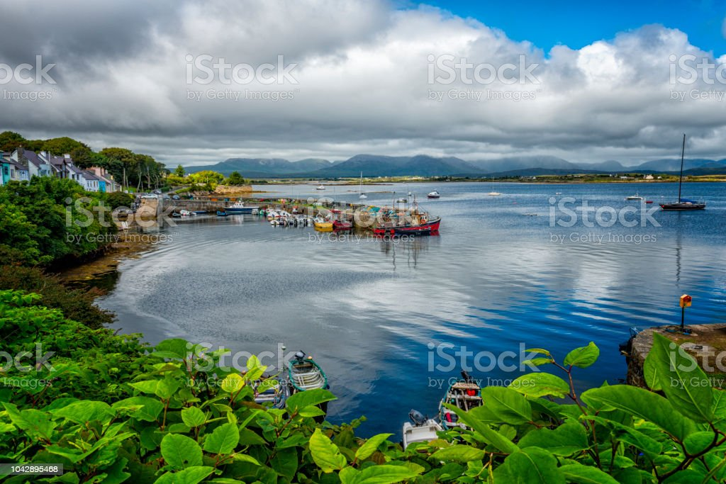 small harbor in Co. connemara in  Ireland stock photo