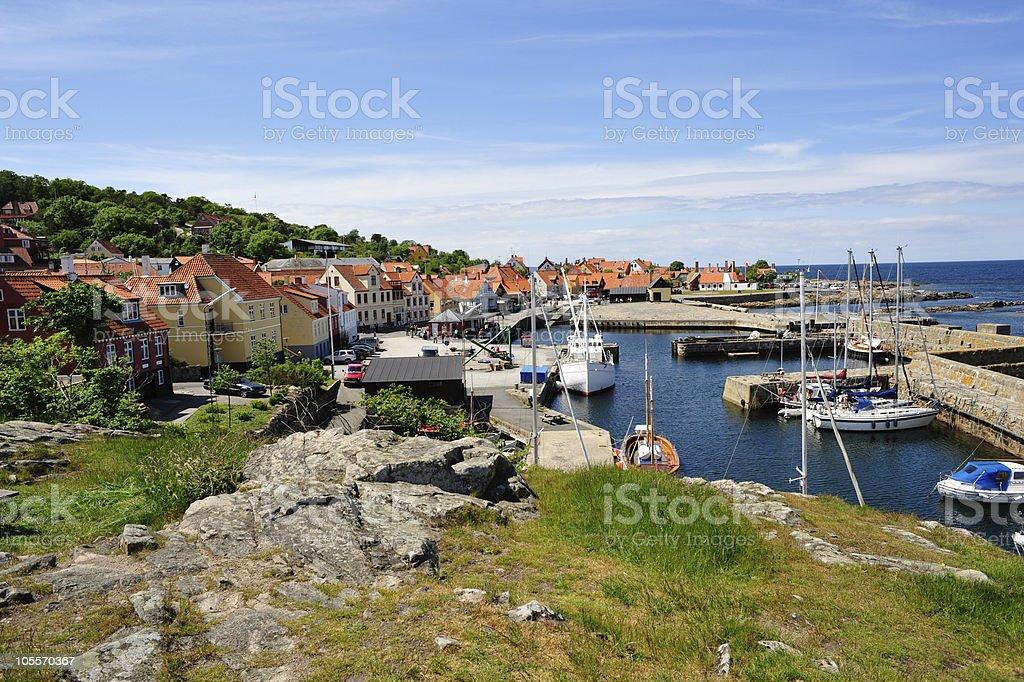 Kleinen Hafen auf Bornholm – Foto