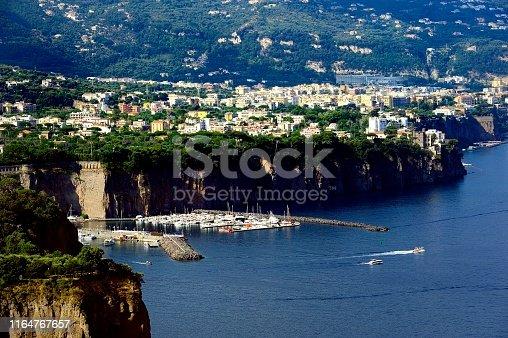 Hillside village on the Amalfi coast