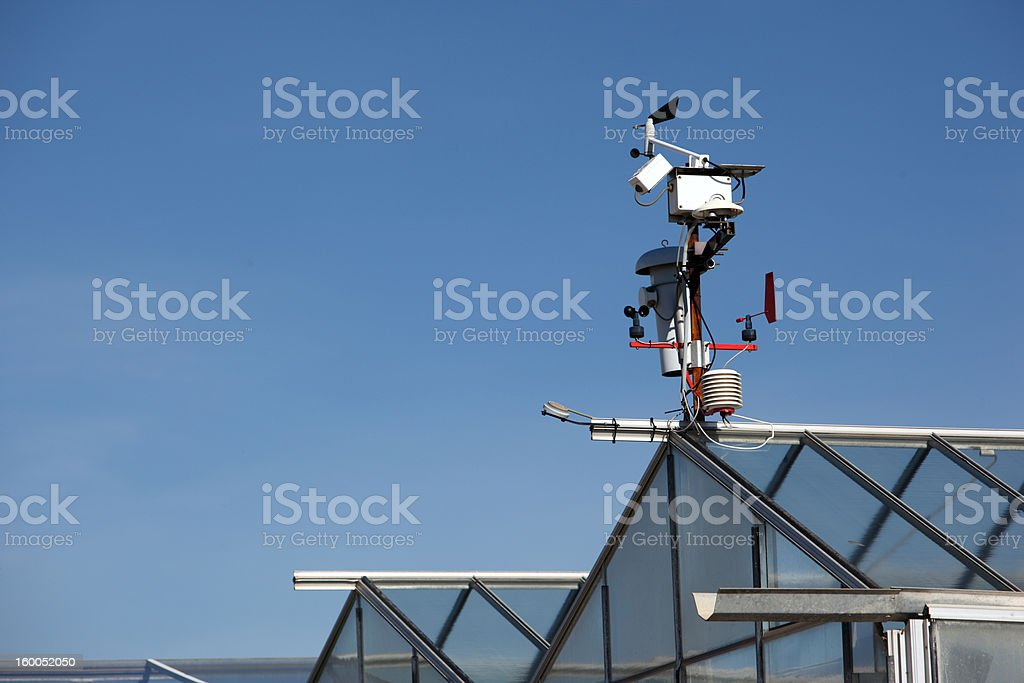 Small hitech weather station with anemometers royalty-free stock photo