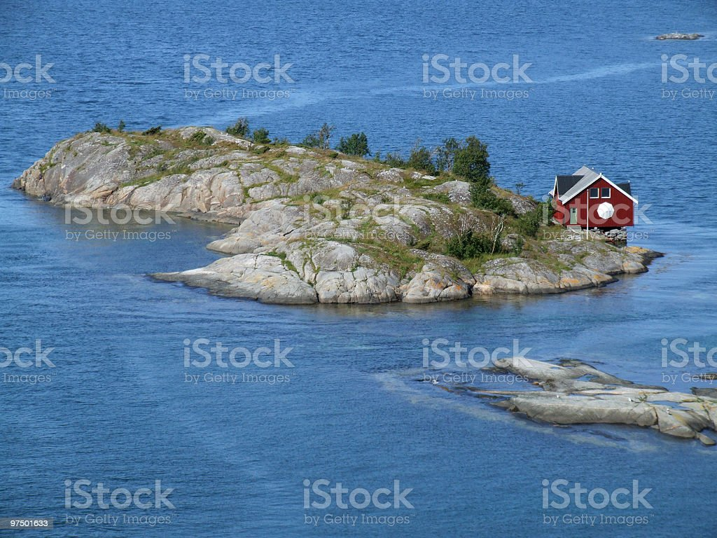 Small home on island royalty-free stock photo