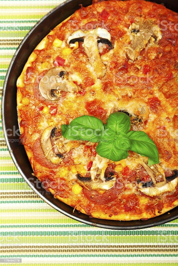 Small homemade pizza royalty-free stock photo