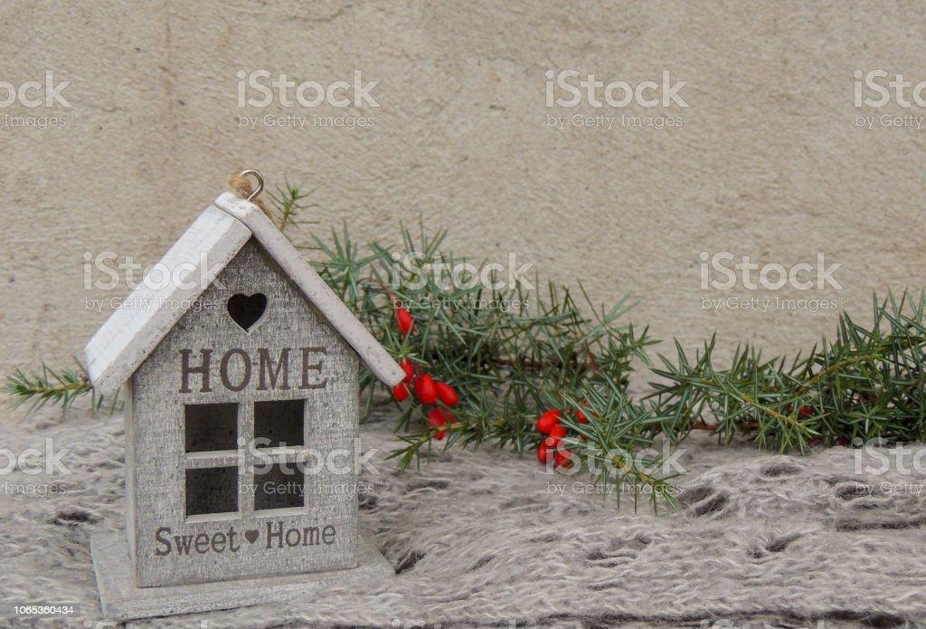 Kleines Hausdekoration Mit Schild Trautes Heim Stockfoto Und Mehr Bilder Von Bauernhaus Istock