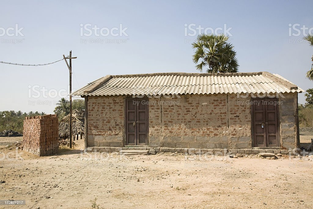 Small House In Rural India Stock Photo More Pictures Of
