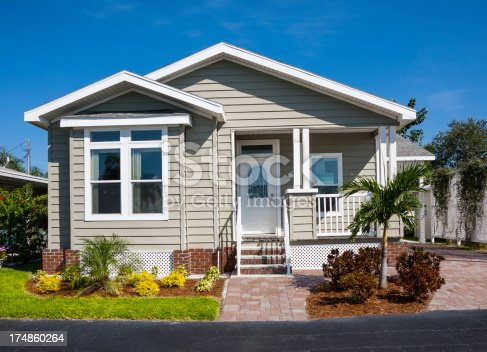 Small cottage; bungalow; small house. Affordable housing.