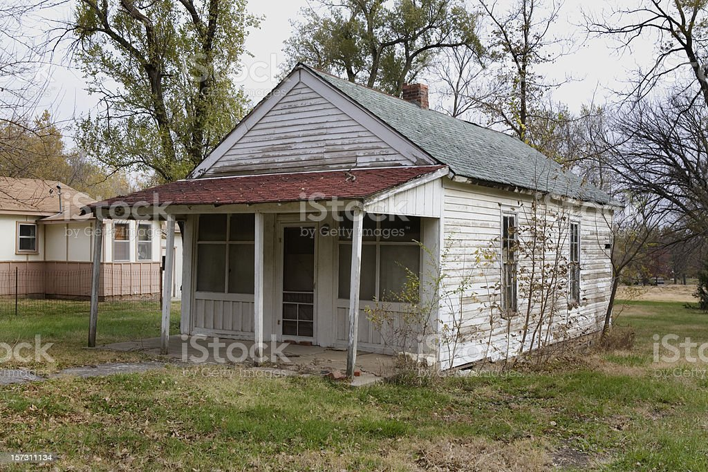 Small House Rural America stock photo