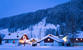 Winterly landscape in Upper Austria at world heritage site of Salzkammergut.