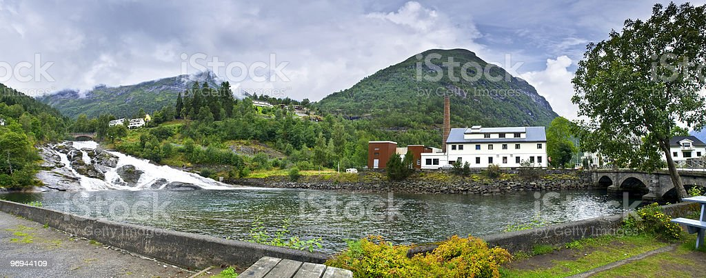 Small hydro-electric power station royalty-free stock photo