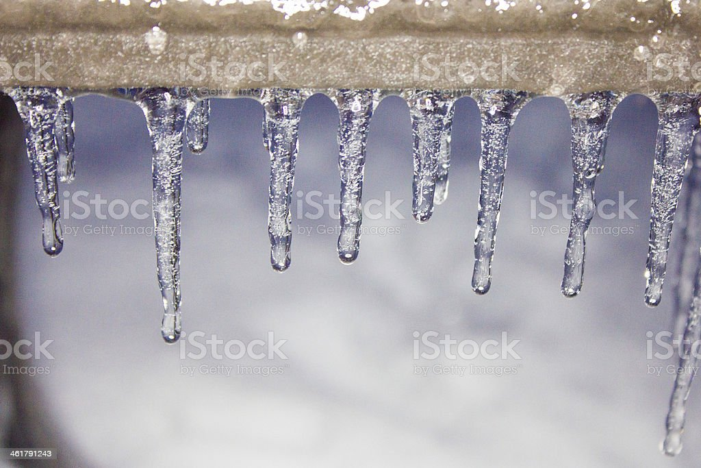 Small Icicles stock photo
