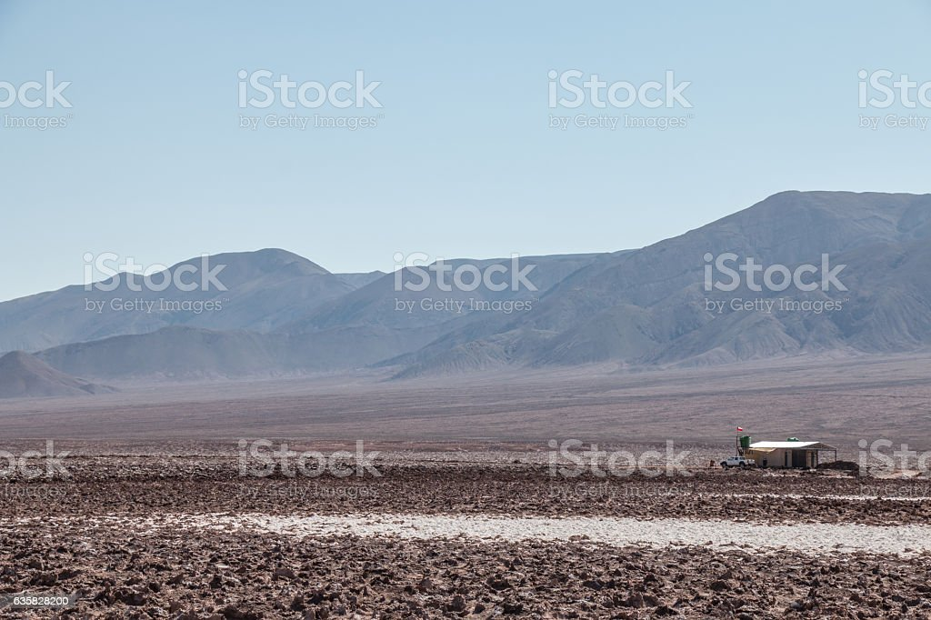 Small improvised house in Hidden lagoons stock photo