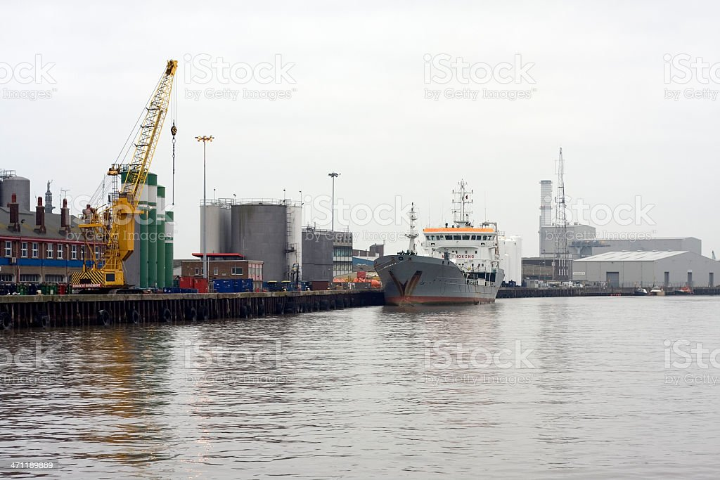 Small industrial port stock photo