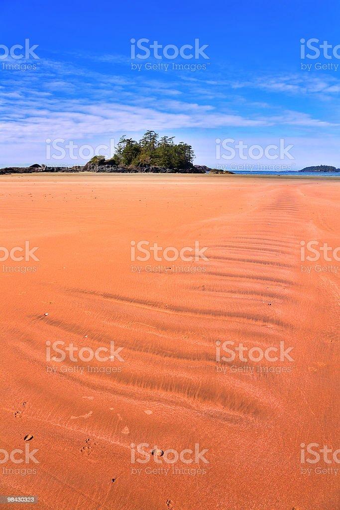 Small island near to ocean beach royalty-free stock photo