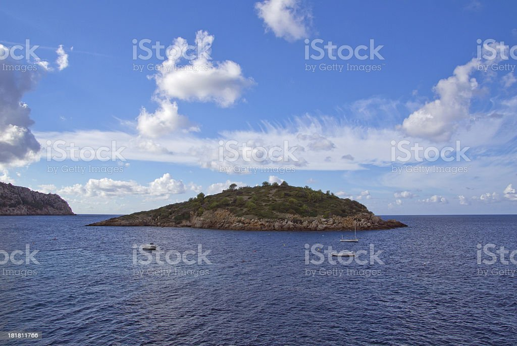 small island off Majorca royalty-free stock photo