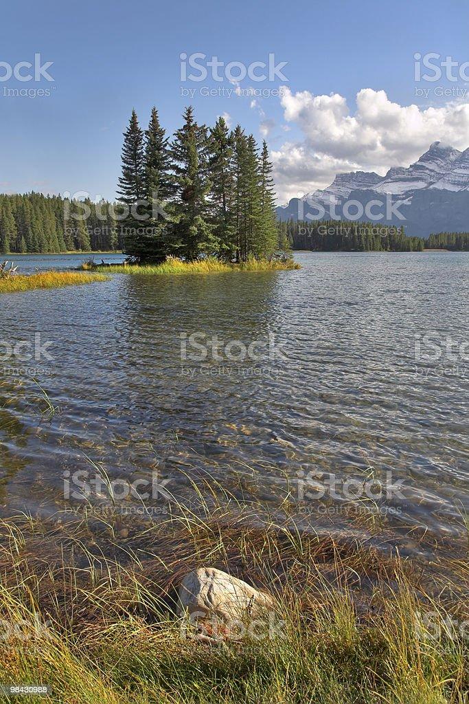 Small island on shoaliness royalty-free stock photo