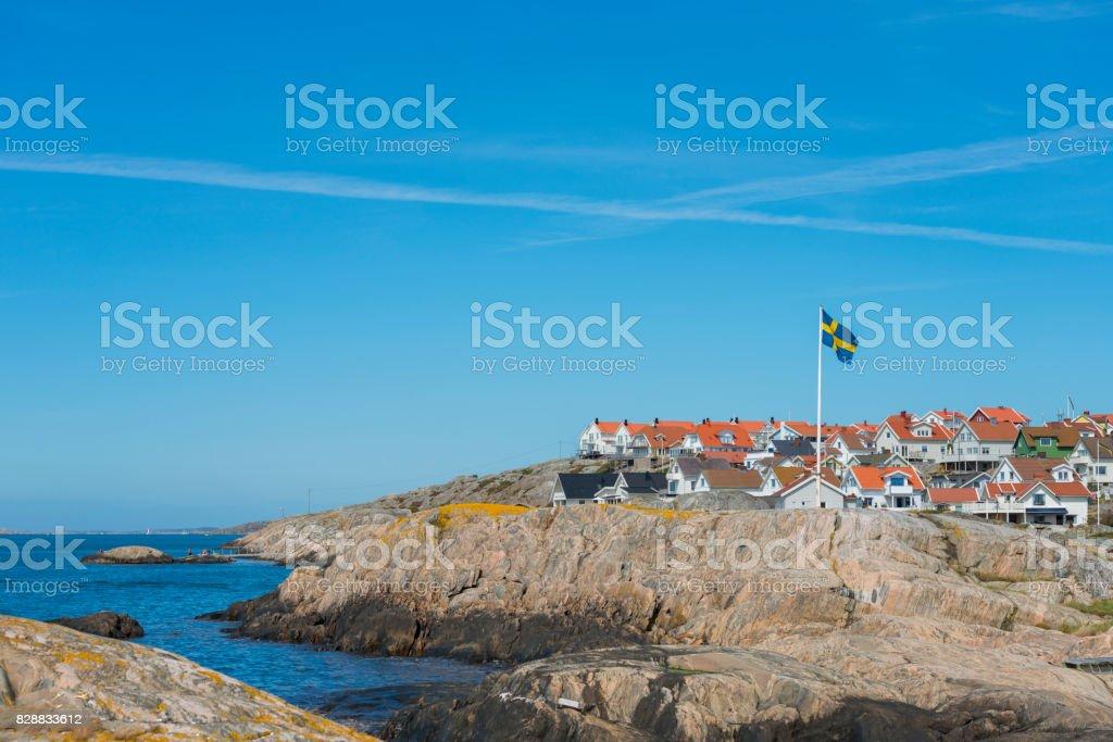 Small Island village stock photo