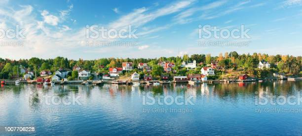 Photo of Small islands in the morning near to Stockholm