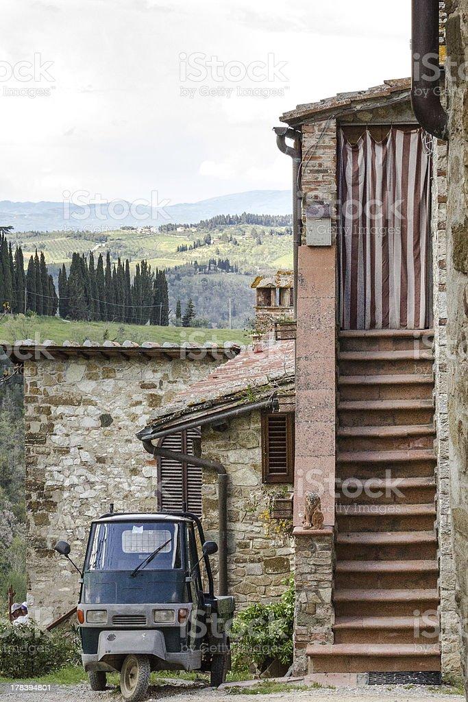 Italiano piccoli Pick-Up in Toscana - foto stock