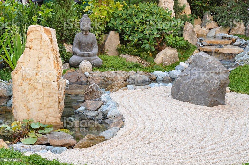 Small japanese garden royalty-free stock photo