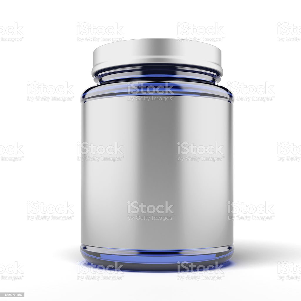 Small Jar for sport supplements royalty-free stock photo