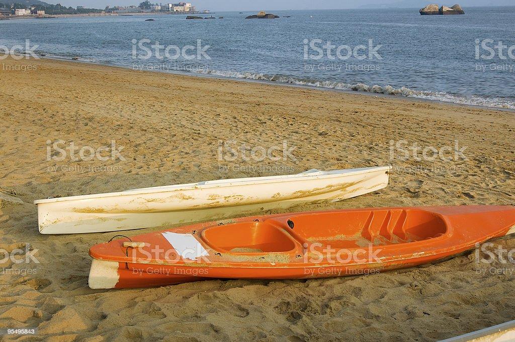 Small kayaks royalty-free stock photo