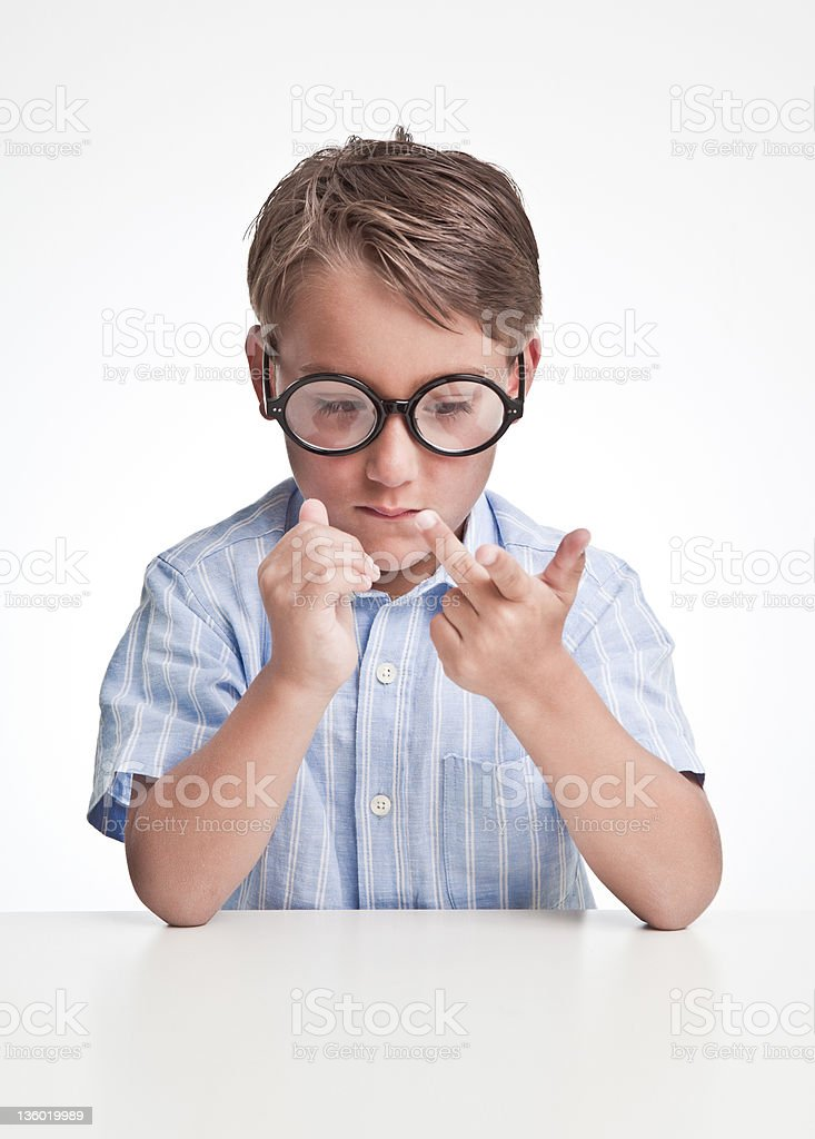 small kid finger counting royalty-free stock photo