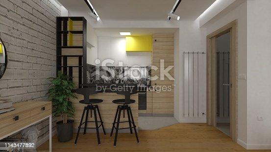 665910118istockphoto Small kitchen 1143477892