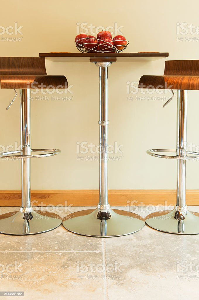 Small Kitchen Table Stools Stock Photo Download Image Now Istock