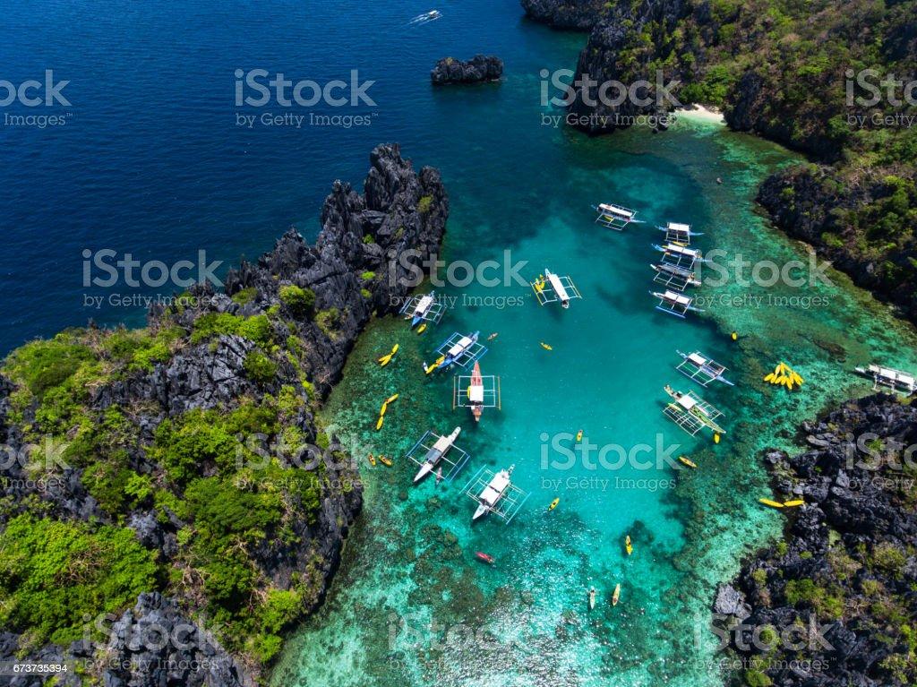 Small lagoon in Palawan photo libre de droits
