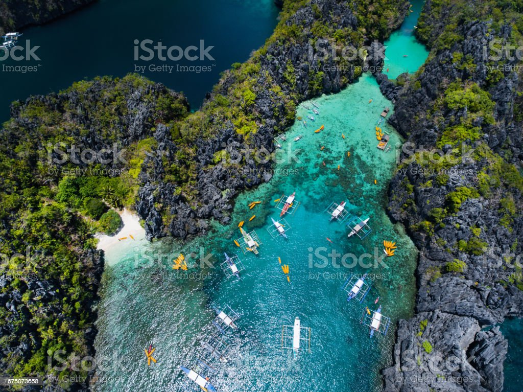 Small lagoon in Palawan stock photo