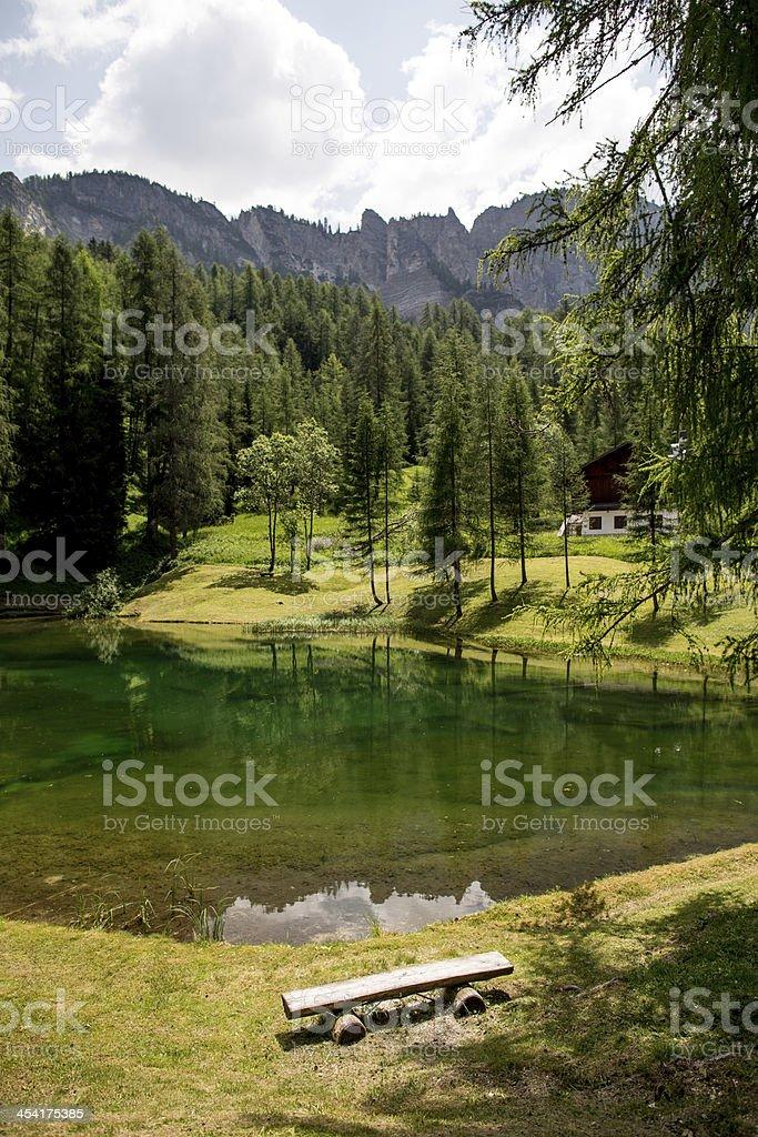 Small lake in Italian Alps royalty-free stock photo