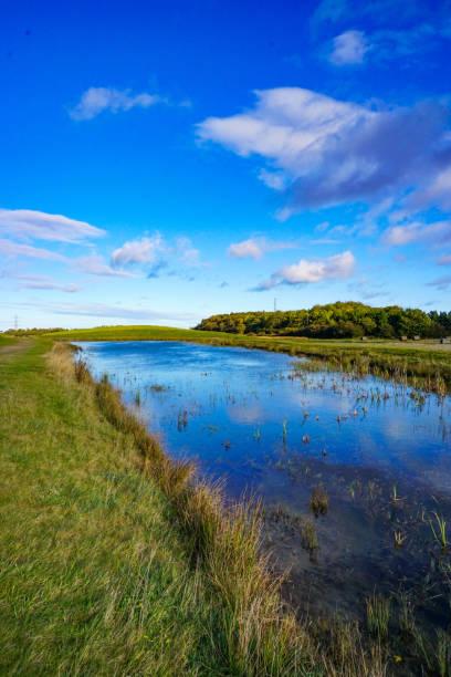 Small lake in Nortern England stock photo