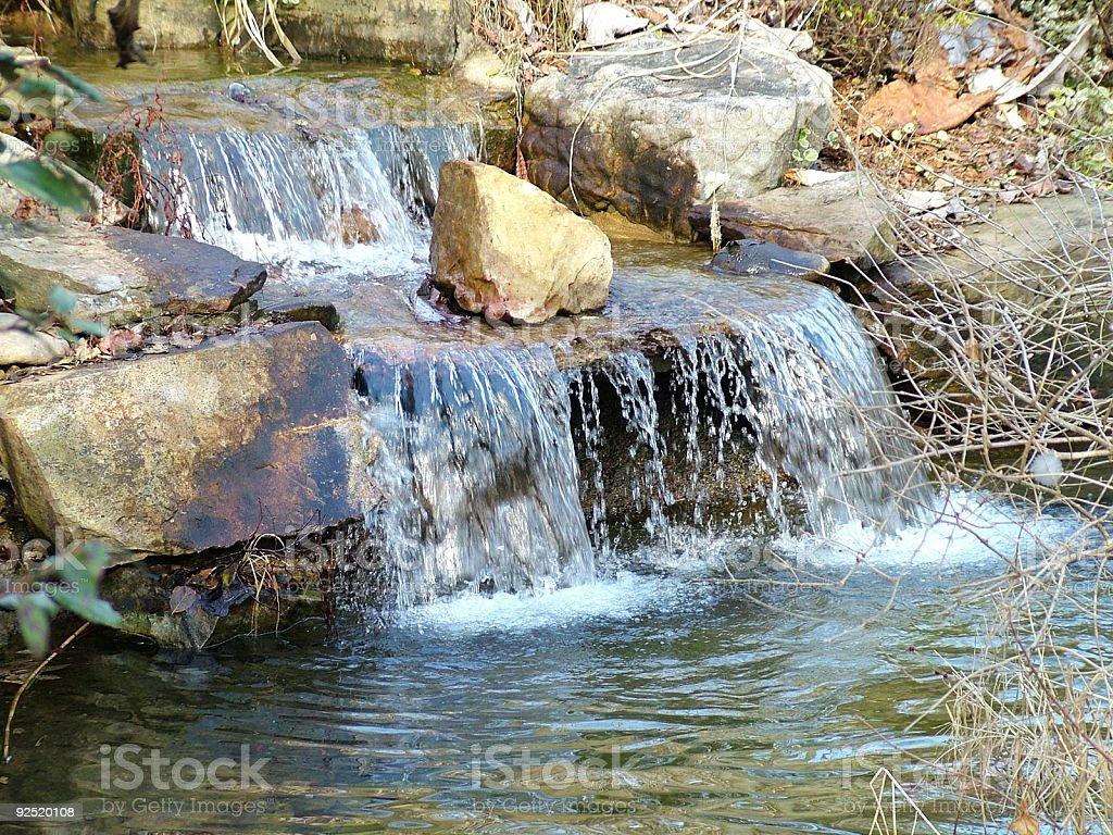Small landscape waterfall. royalty-free stock photo