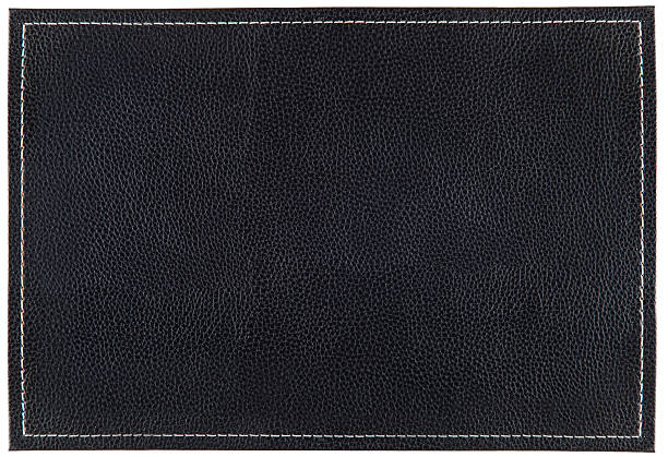 small leather background with stitches - seam stock photos and pictures