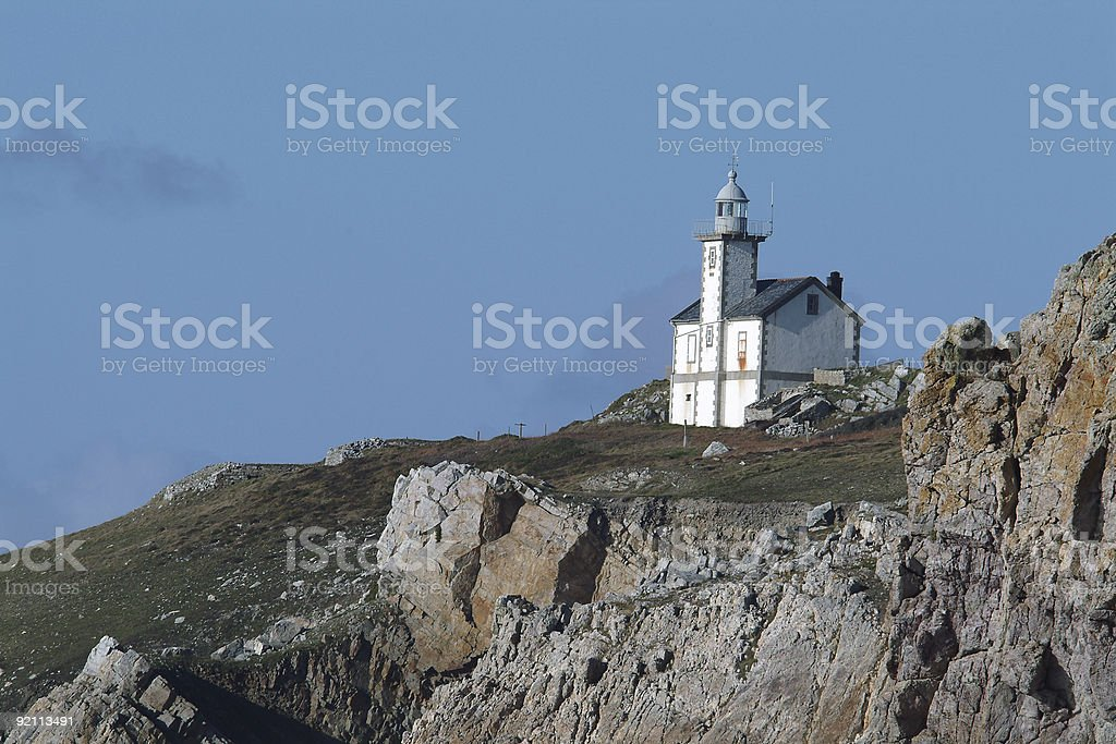 Small lighthouse stock photo
