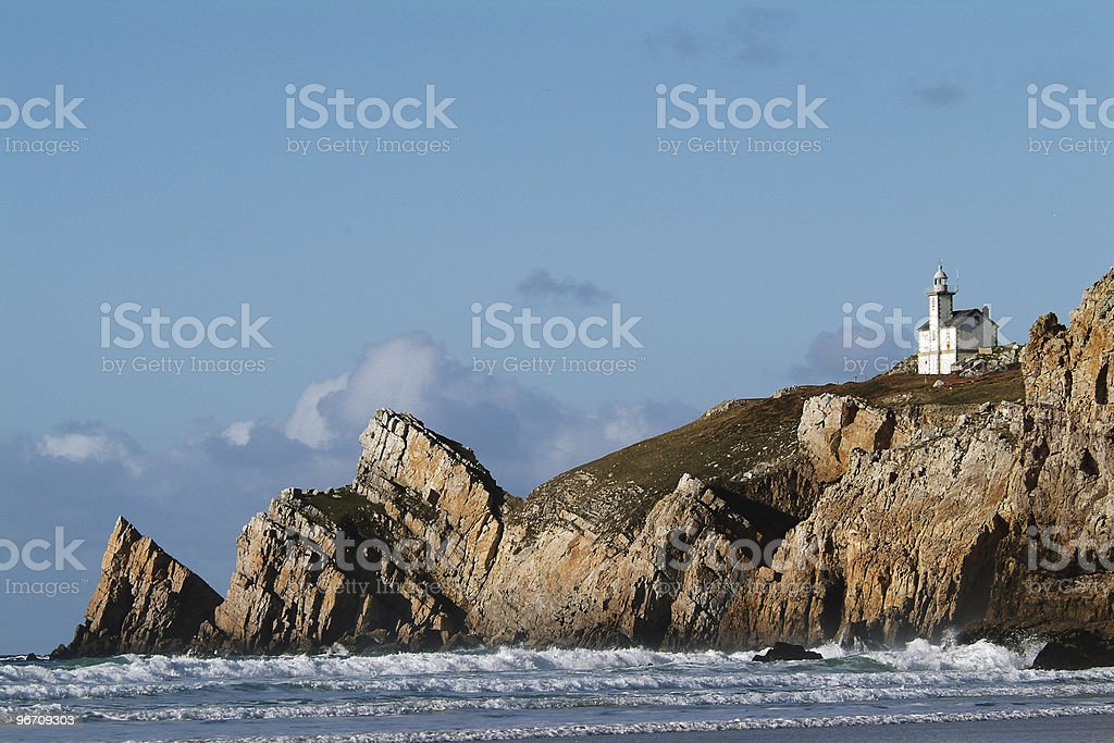 Small lighthouse stock photo