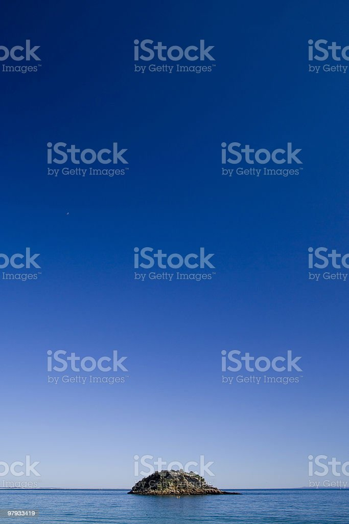 Small Lonely Island royalty-free stock photo