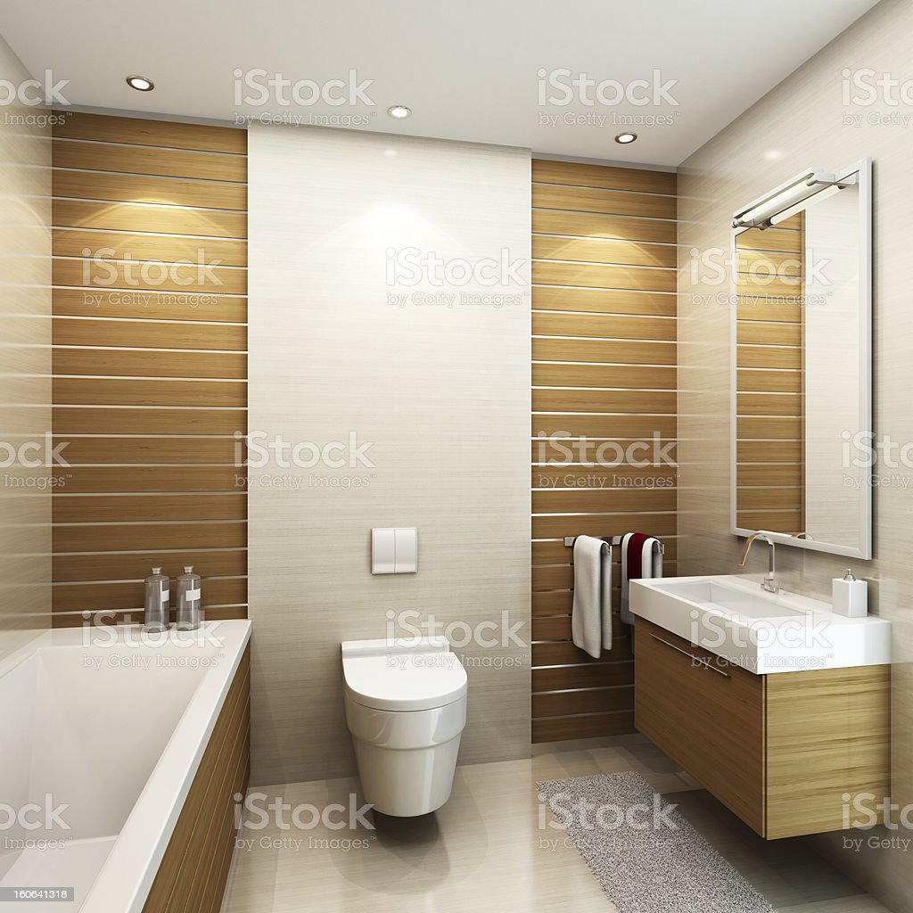 Small Luxury Bathroom royalty-free stock photo