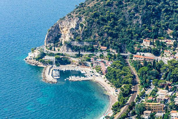 Small Marina Cote d'Azur Coast in France stock photo