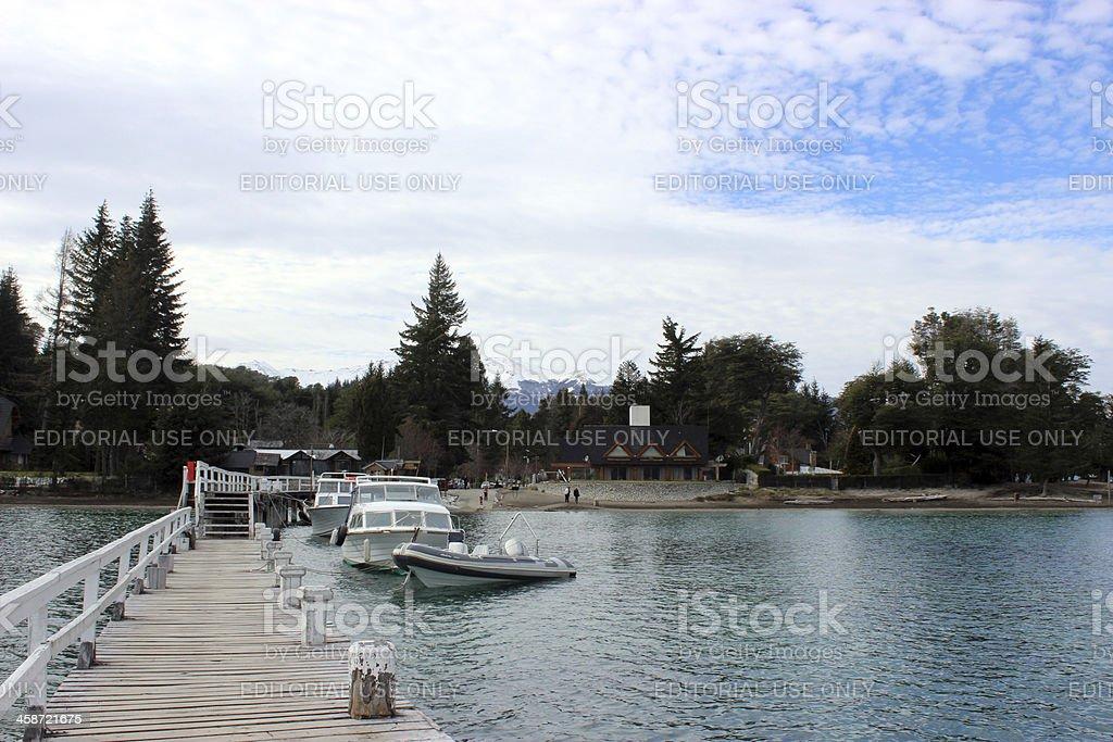Small marine at Villa La Angostura- Argentina stock photo