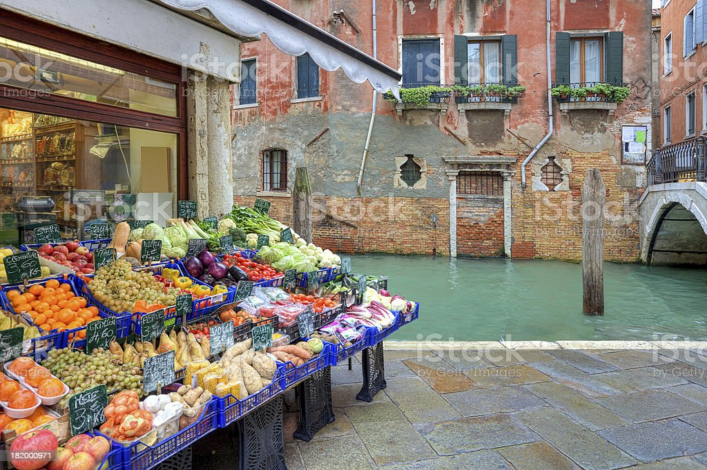 Small market. Venice, Italy. stock photo