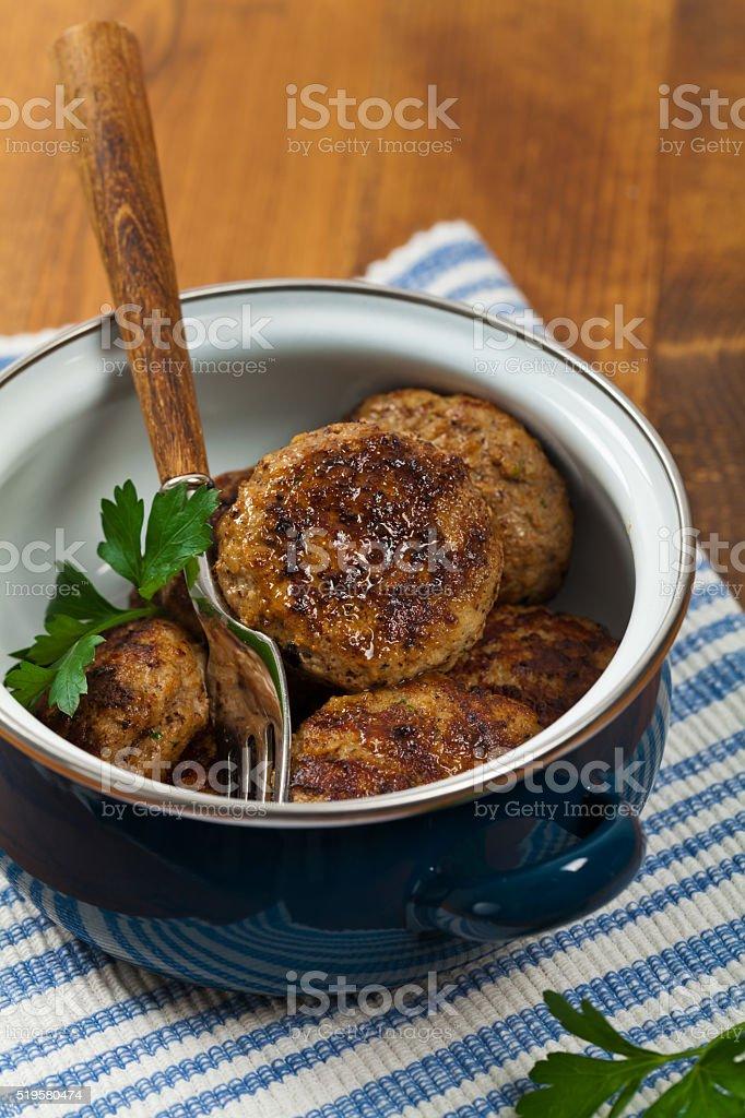 Small Meat Patties stock photo