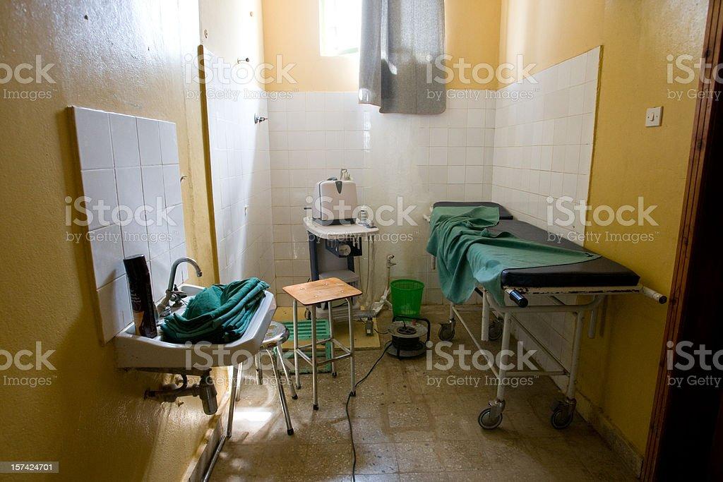 A small medical examination room stock photo