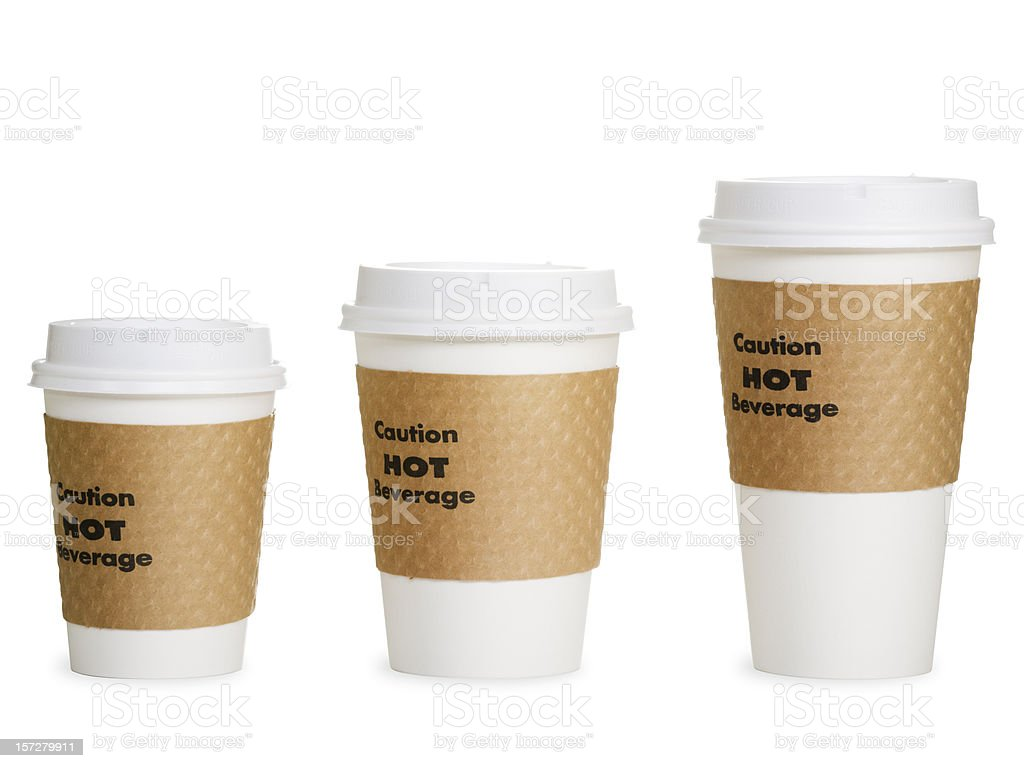 Small Pix Of Large Cups To : Small medium and large coffee cups stock photo more