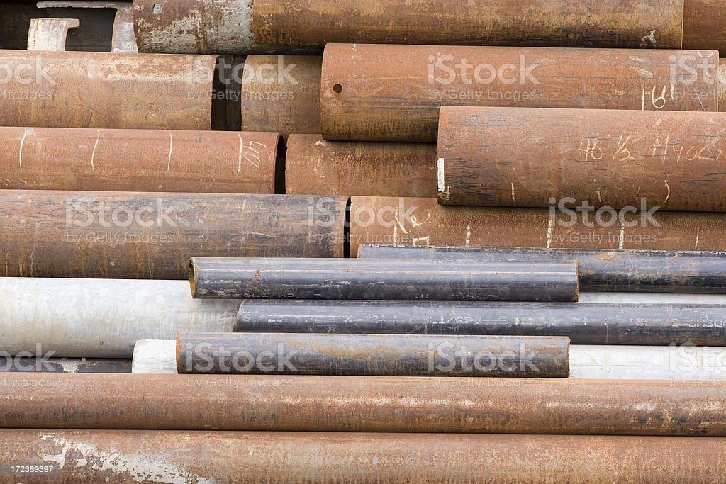 Small, medium, large pipes royalty-free stock photo