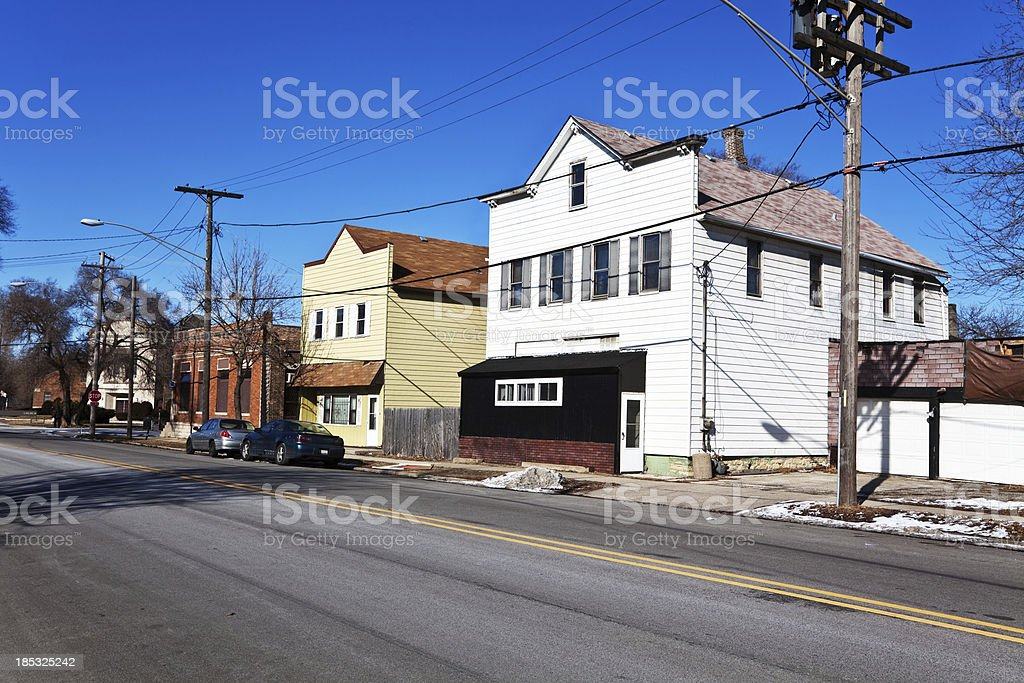 Small midwest Town, Riverdale, Chicago royalty-free stock photo