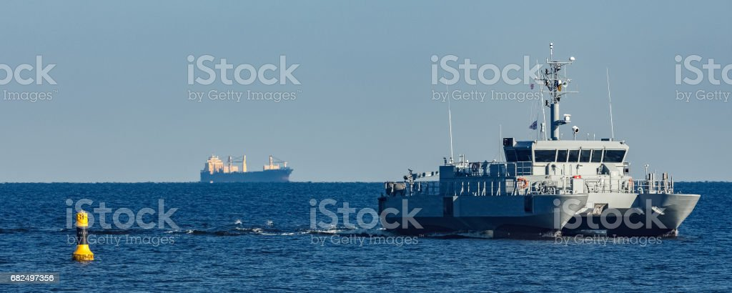 Small military ship royalty-free stock photo