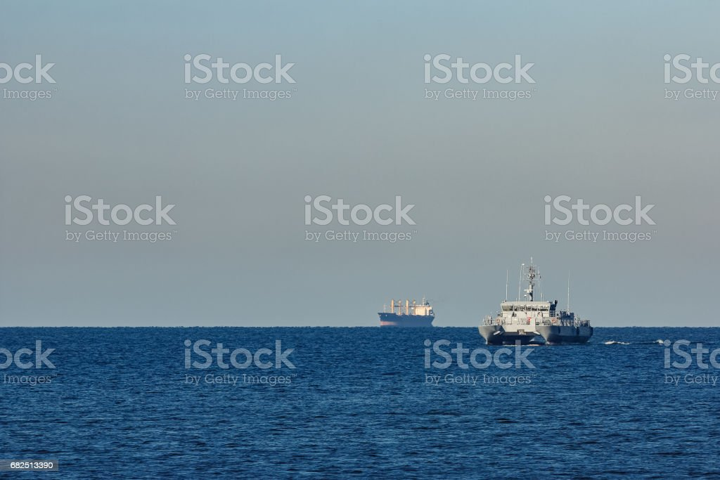 Small military ship Стоковые фото Стоковая фотография