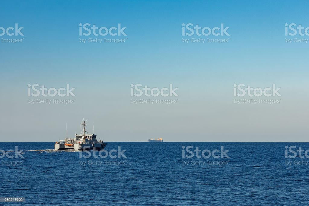 Small military ship royalty-free stock photo