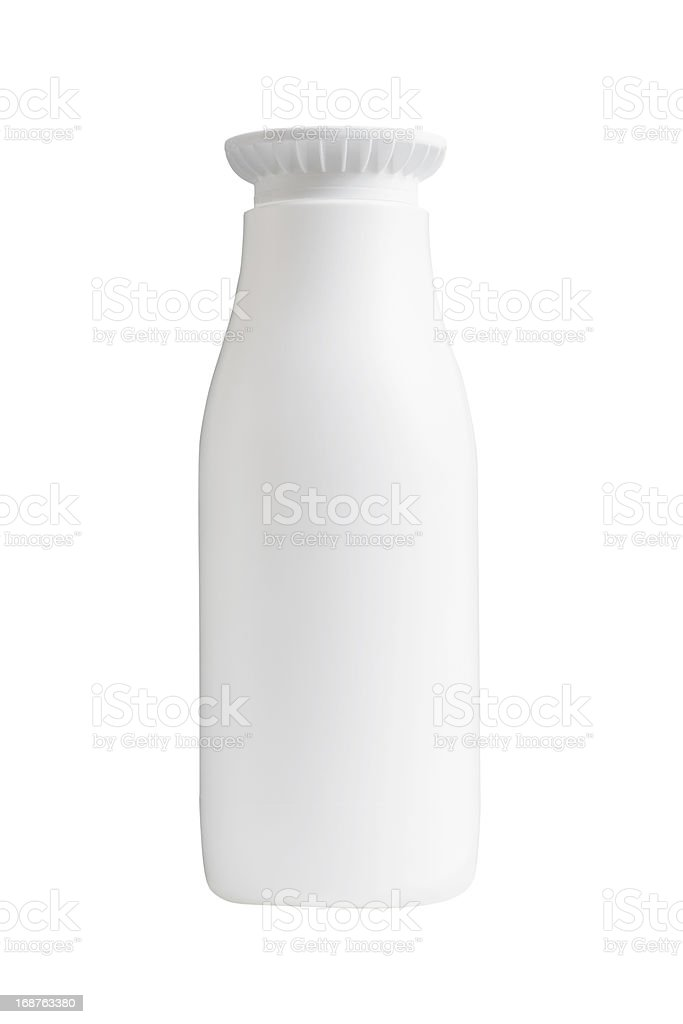 Small Milk Bottle Without Label stock photo